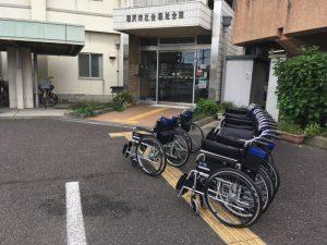 寄贈した車椅子
